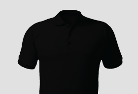 Premium Polo Black T Shirt Kooltex