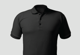 Premium Polo Arrow Charcoal T Shirt Kooltex
