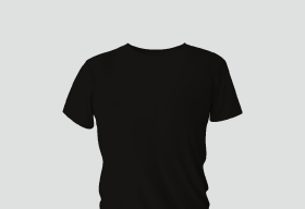Premium Cotton Black Round Neck