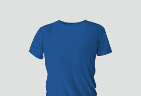 Premium Cotton Cerulean Blue Round Neck