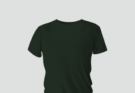 Premium Cotton Dark Green Round Neck