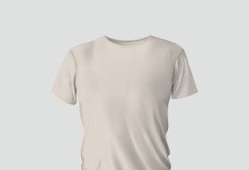 Premium Cotton Half White Round Neck