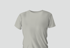 Premium Cotton Light Grey Round Neck
