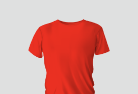 Premium Cotton Red Round Neck
