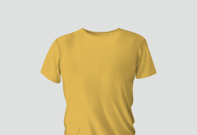 Premium Cotton Yellow Round Neck