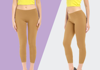 LightBrown Ankle Length Leggings