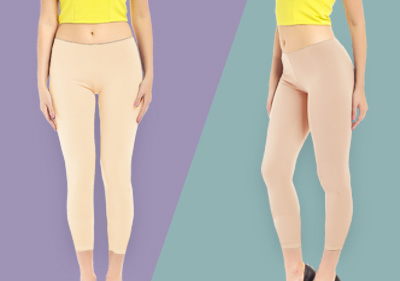 Cream Ankle Length Leggings
