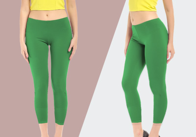 Green Ankle Length Leggings image