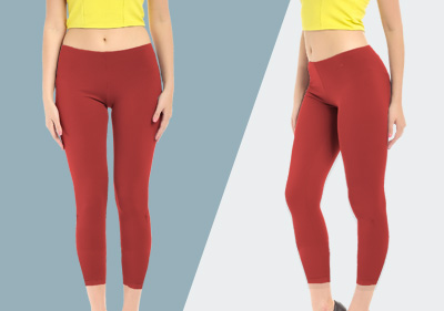 Red Ankle Length Leggings image