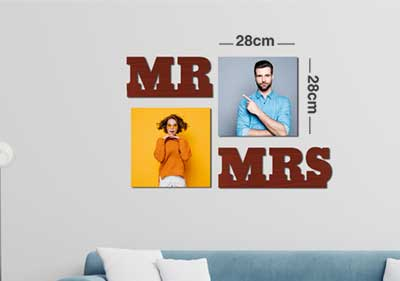Mr Mrs 2Square Fixtiles