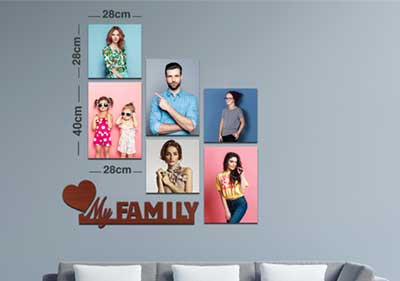 My Family 3Large 3Square Fixtiles image
