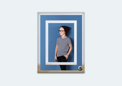 Large Fancy Glass Photo Frame image