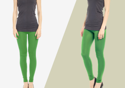 Green Full Length Leggings