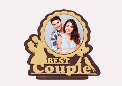 Circle Shaped Best Couple Gift
